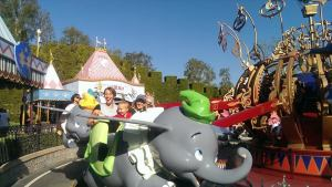 the dumbo ride at Disneyland